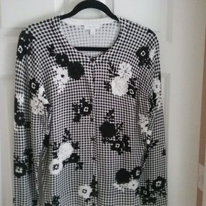 Bnwt cardigan with embroidered details